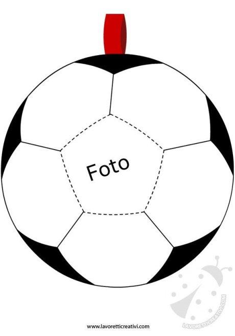 porta foto festa papa pallone calcio