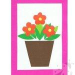Biglietti per la Festa della Mamma – Vaso con fiori