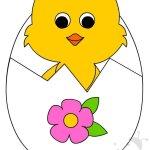 Biglietto di Pasqua con pulcino – Sagome
