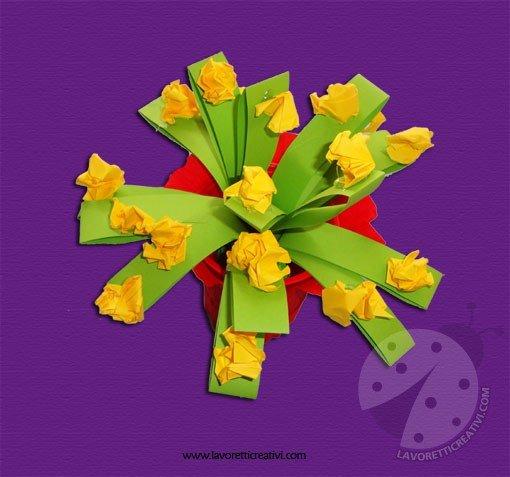 Lavoretti Festa della Mamma - Vaso con fiori