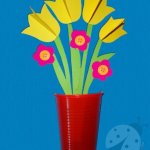 Lavoretto Festa della Mamma – Vaso con i fiori