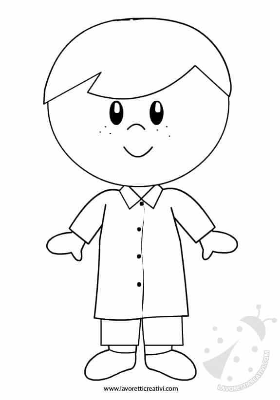 Accoglienza scuola bambino con grembiule for Disegno bambina da colorare