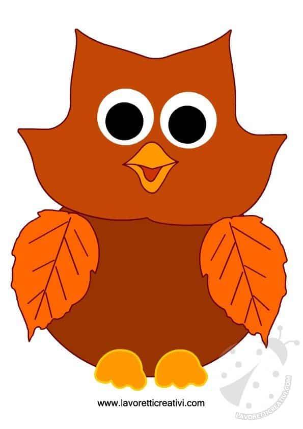 Lavoretti autunno scuola primaria gufo for Addobbi autunno per aula scuola