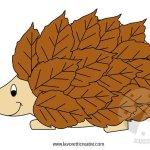 Lavoretti con le foglie – Riccio