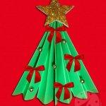Albero di Natale a fisarmonica