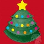 Albero di Natale con piatto di carta
