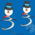 Decorazioni Invernali – Pupazzi di neve
