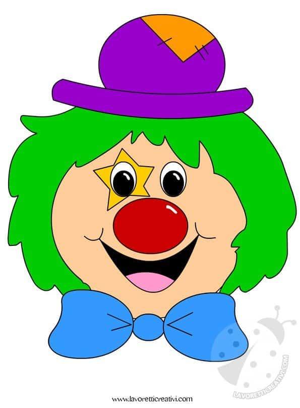 Addobbi carnevale clown for Disegno pagliaccio da colorare