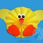 Addobbi di Pasqua – Pulcino a fisarmonica