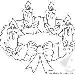 Corona dell'Avvento disegno