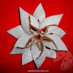 Stella di Natale con il feltro
