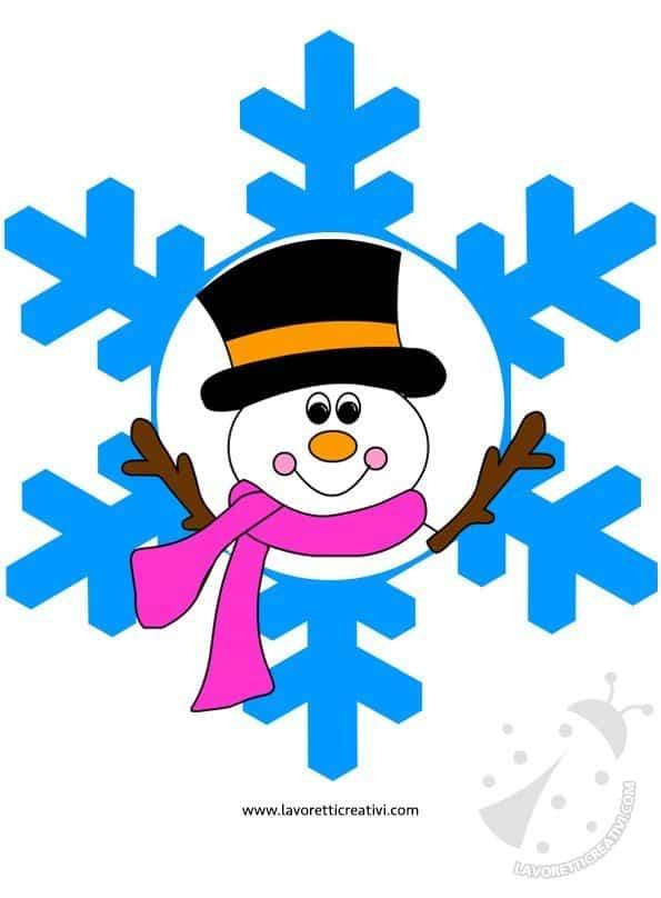 Addobbi invernali fiocchi di neve con disegni for Fiocco di neve da ritagliare