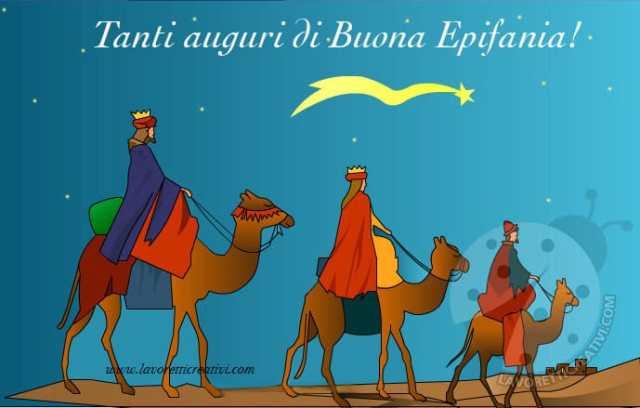 Cartoline di auguri per l'Epifania