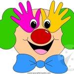 Lavoretti Carnevale Scuola Infanzia – Pagliaccio con sagome mani