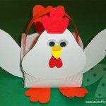 Lavoretti di Pasqua per bambini – Gallina porta ovetti