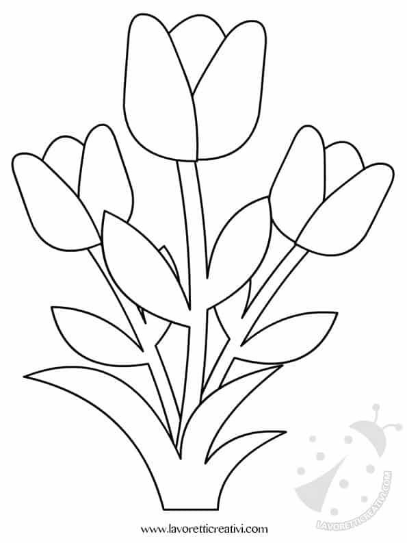 Decorazioni primavera con fiori for Disegni da stampare e colorare fiori