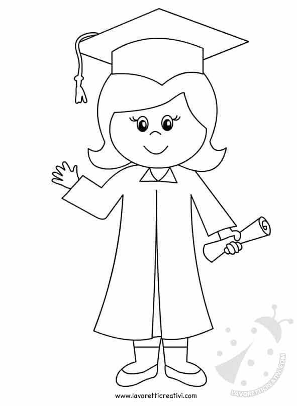 Fine Anno scolastico - Bambina con diploma