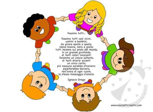 Filastrocche per l 39 accoglienza dei bambini lavoretti - Immagine di terra a colori ...