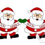 Festone Natalizio con Babbo Natale e la scritta Buon Natale