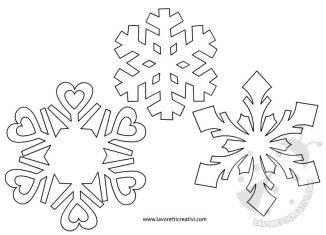 Lavoretti creativi sagome lavoretti for Fiocco di neve da ritagliare