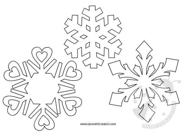 Decorazioni a spirale con fiocchi di neve