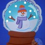 Lavoretti Inverno Sfera di vetro con pupazzo di neve