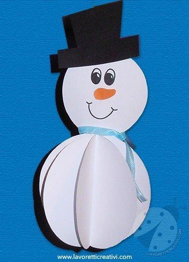 Addobbi inverno pupazzo di neve 3d for Decorazioni invernali per scuola