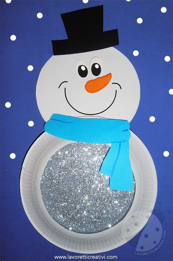 Lavoretti sull 39 inverno per bambini pupazzo di neve con - Immagini da colorare la neve ...