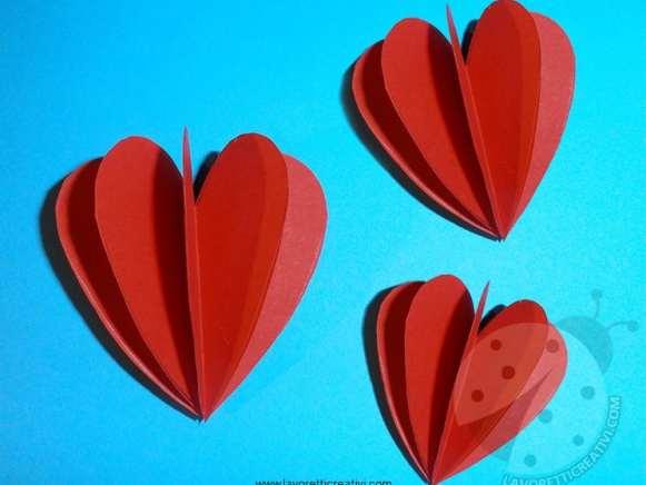 Cuori 3D per Biglietti di San Valentino