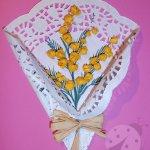 Lavoretti Festa della Donna Bouquet di mimosa