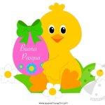 Auguri di Buona Pasqua con pulcino