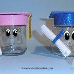 Idee Fine Anno Scolastico Barattoli di vetro con tocco