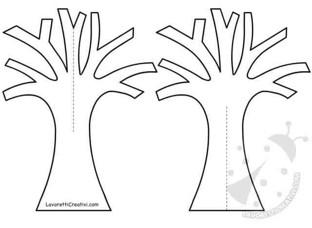 Sagome per albero autunnale 3D di carta