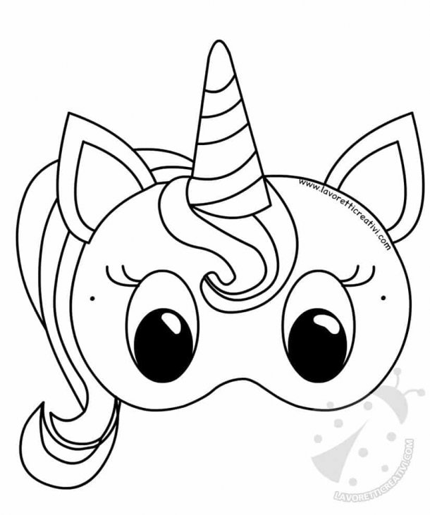 Maschera Unicorno Di Carta Per Bambini Lavoretti Creativi