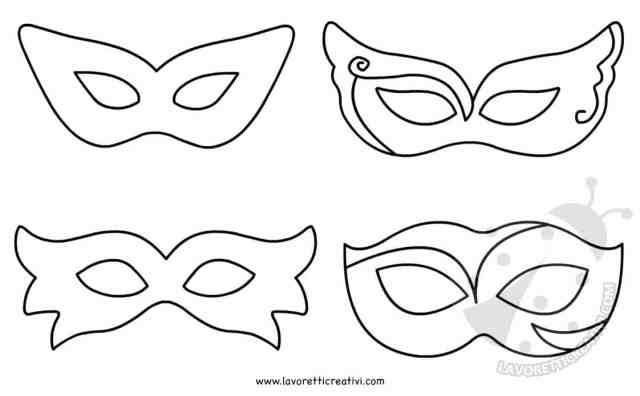 Maschere di carnevale per bambini da colorare e ritagliare for Maschere di carnevale tradizionali da colorare per bambini da stampare