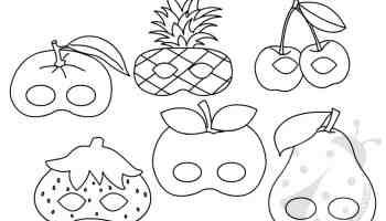Set Maschere A Forma Di Frutta Da Stampare E Ritagliare Lavoretti