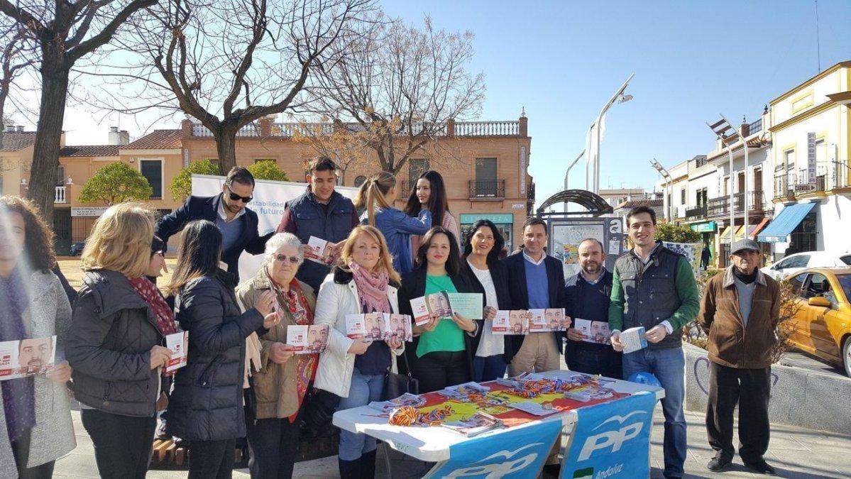 Presentación de 'En Andalucía el tiempo pasa, el paro se queda' en Alcalá