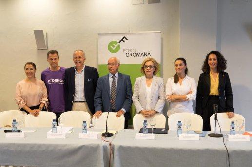 Los portavoces de los seis partidos, en el Foro Oromana / José Luza Boza