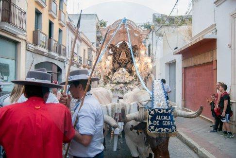 Llegada de los Rocieros a Alcalá