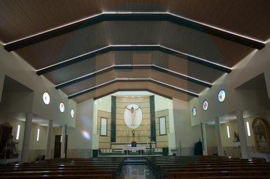 Vista general de la reforma del Templo de San Agustín / F.Amador