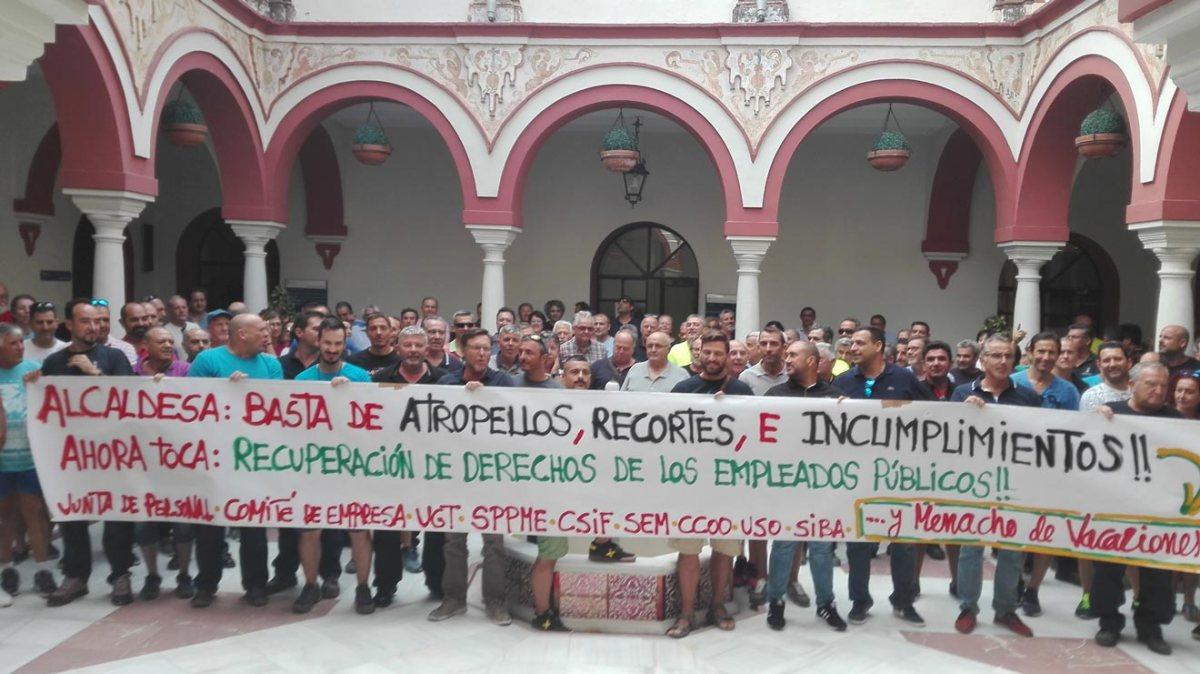Anterior protesta sindical /LVA