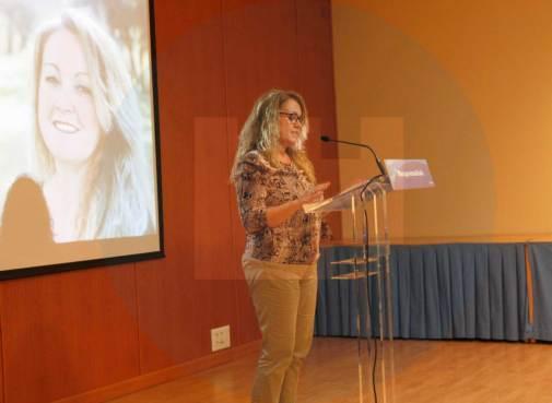 Sandra González durante su presentación/ Rocío Gómez