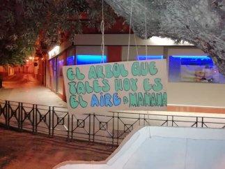 Carteles anónimos en defensa del arbolado municipal / Salva tus Árboles Alcalá