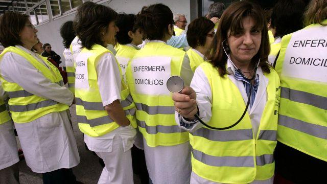 Enfermeiras eventuais en loita anuncia marchas mensuales para A Coruña