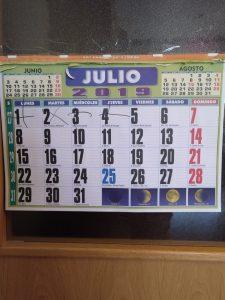Calendario mensual de adultos