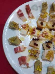 plato combinado con perlas de AOVE