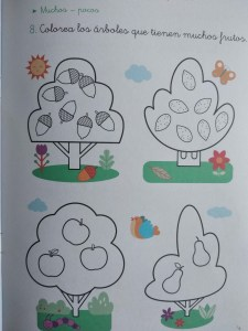 árboles de frutas para colorear