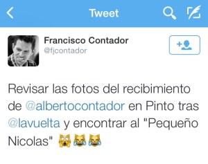 Tuit Francisco Contador Pinto