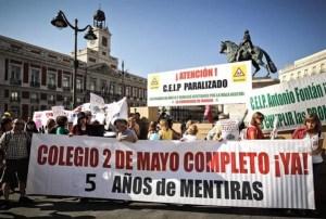 Imagen de 2011 de una protesta en la Puerta del Sol por  5 años de mentiras
