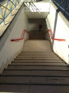 Actual acceso para el cambio de vías en la Estación de Cercanías. Fotografía: Mario Coronas